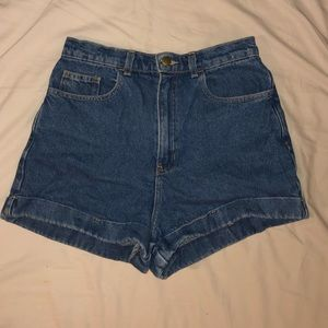 EUC American Apparel High Waist Denim Shorts